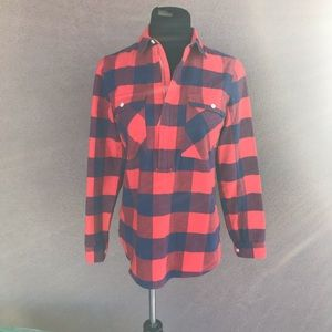 I crew ladies plaid shirt